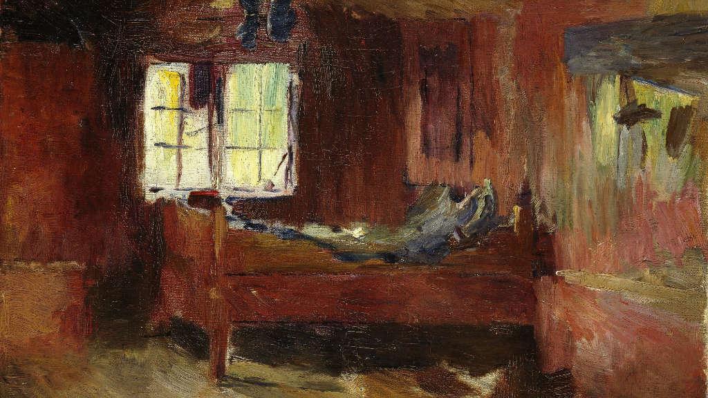 Harriet Backer, Farm Interior, Strålsjøhaugen, 1893