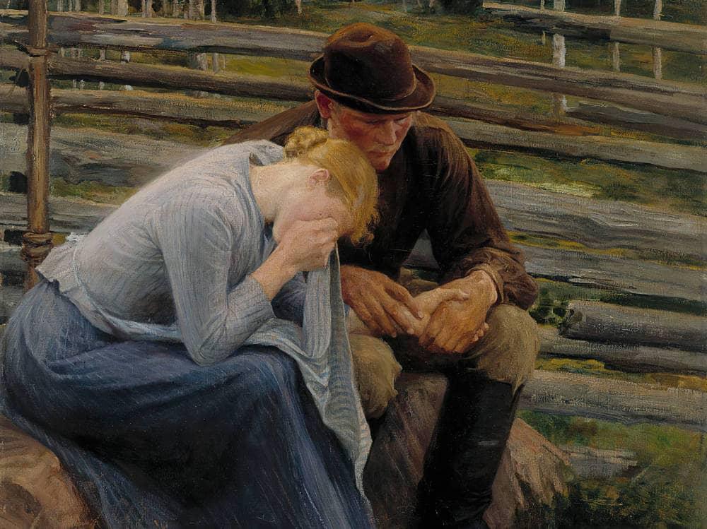 Albert Edelfelt (1854–1905), Sorrow