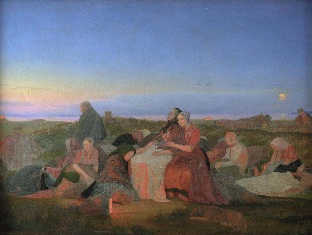 Jørgen V. Sonne, Midsummer's Eve. Sick People Asleep upon the Grave of St. Helena at Tisvilde, 1846–1847