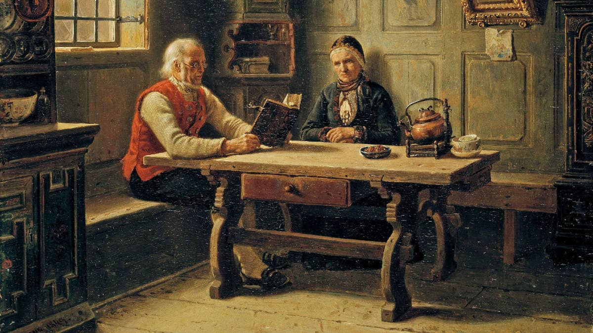 Adolph Tidemand , Old Age Solitude, 1849